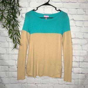 Lilly Pulitzer Colorblock Debra sweater sz XS